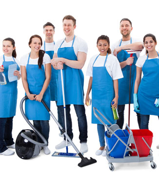 house cleaning team